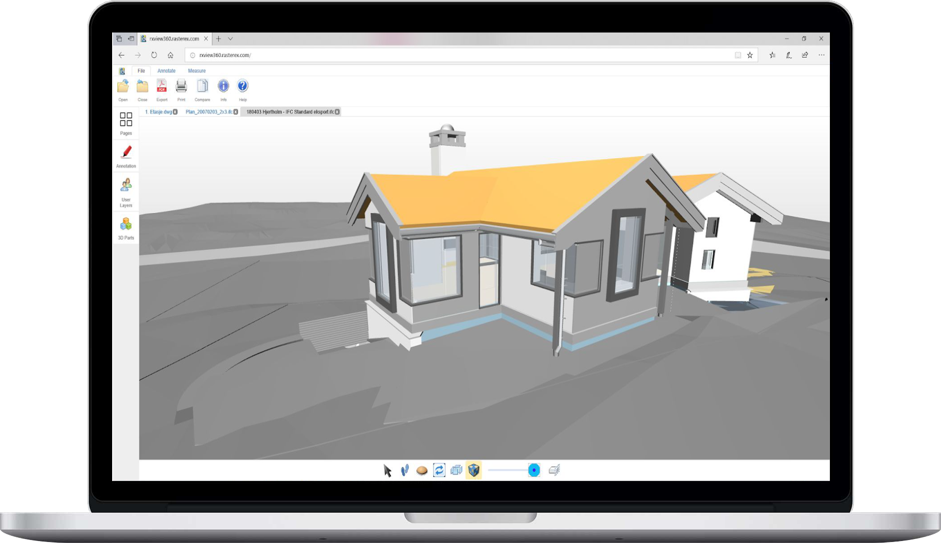 SDK with API for viewing, markup and annotation of CAD, BIM